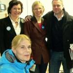 Anna, Marjo, ministeri Janne ja Merikukka Hyvinkäällä 11.4.2011