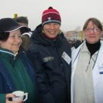 Anneli, Marjo ja Aulikki Tuusulassa 2.4.2011