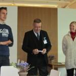 Vaalitilaisuus Loviisassa 14.2.2011 Elias, Risto ja Marjo