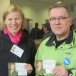 Marjo ja Markku Lippulaivassa 16.4.2011