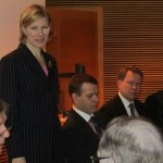 Kokoomuksen talousvaliokuntatyöryhmä yrittäjäseminaarissa 17.2.2011 eduskunnan kansalaisinfossa