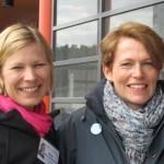 Marjo ja Christina Kirkkonummella 16.4.2011
