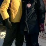 Porvoossa Ystävänpäiväkahveilla Anna Helin ja Marjo